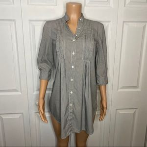Dalia Collection Maternity Stripped Tunic Top S